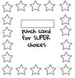 Punch Card for Behavior