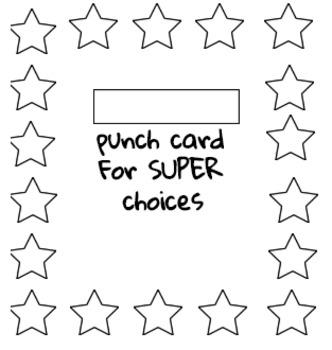 Punch Card for Behavior