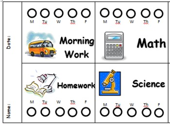 Punch Card for Student Assignments