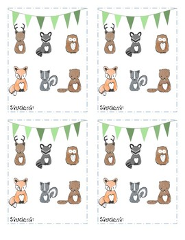 Punch Card or Incentive Card Woodland