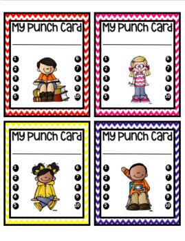 Punch Cards (Behavior Management)