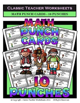 Punch Cards Bundle - Punch Cards (Year-Round) -  Set 1 - 10 Punches