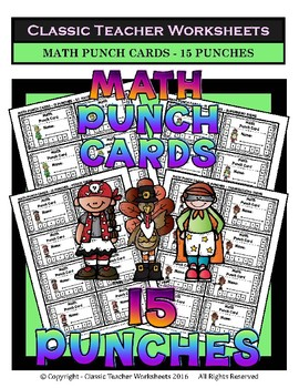 Punch Cards Bundle - Punch Cards (Year-Round) -  Set 1 - 15 Punches