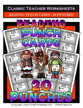 Punch Cards Bundle - Punch Cards (Year-Round) -  Set 1 -  20 Punches