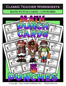 Punch Cards Bundle - Punch Cards (Year-Round) -  Set 1 - 5 Punches
