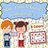 Chevron and Stars Punch Cards for Behavior Management and More