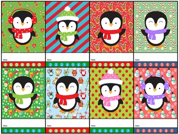 Punch Cards : Christmas - Baby Penguins