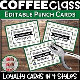 Punch Cards Coffee Themed Starbooks like Starbucks Loyalty