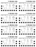 Punch Cards (Cowboy/Western Theme)