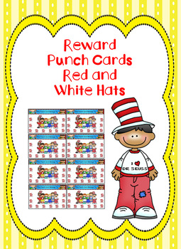 Reward Punch Cards Red and White Hats