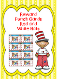 Read Across America Reward Punch Cards Red and White Hats