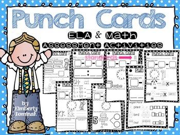 Punch Cards: ELA & Math Quick Print Assessment Activities