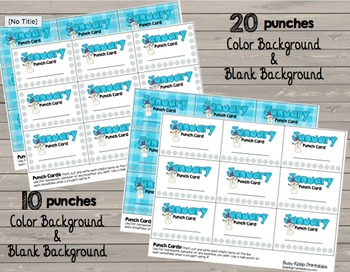 Punch Cards {ENTIRE YEAR} - Incentive - Behavior - Homework