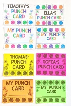 Punch Cards - Editable