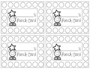 Punch Cards {FREEBIE}