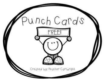 Punch Cards {FREEBIE}