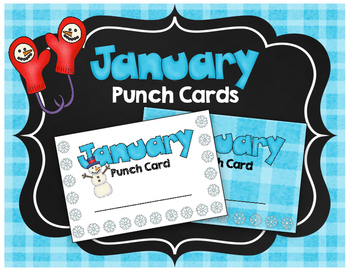 Punch Cards {FREEBIE} Incentive Cards - Classroom Management