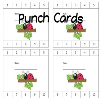 Punch Cards Ladybug Theme