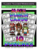 Punch Cards - Math Punch Cards (Year-Round) - 10 Punches
