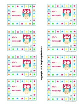 Punch Cards Owls