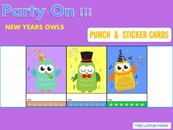 Punch Cards : Party On!!! New Years Owls