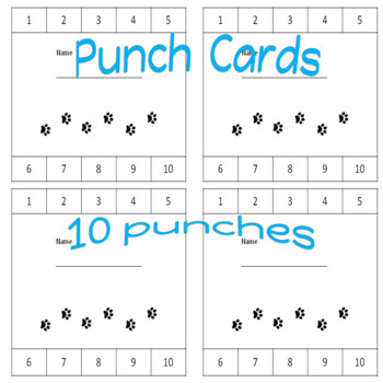 Punch Cards Paw Print Theme
