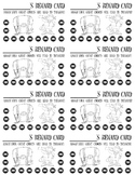 Punch Cards (Pirate/Nautical Theme)