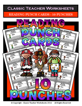Punch Cards - Reading Punch Cards (Year-Round) - 10 Punches