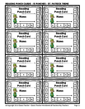 Punch Cards - Reading Punch Cards (Year-Round) - 15 Punches