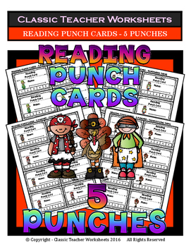 Punch Cards - Reading Punch Cards (Year-Round) - 5 Punches