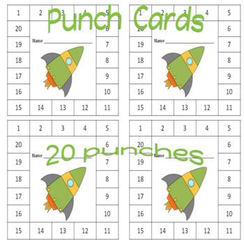Punch Cards Rocket Theme