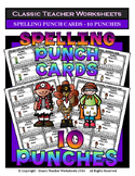 Punch Cards - Spelling Punch Cards (Year-Round) - 10 Punches