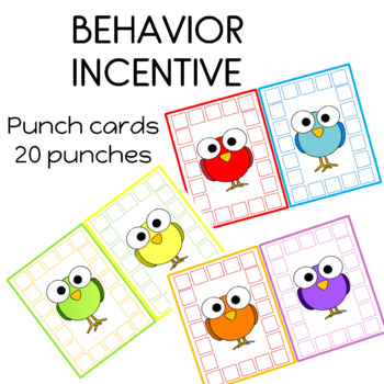 Spring Punch Cards Student Incentive Bird Theme