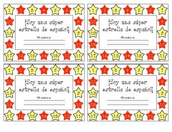 Punch Cards - Super estrella de espanol