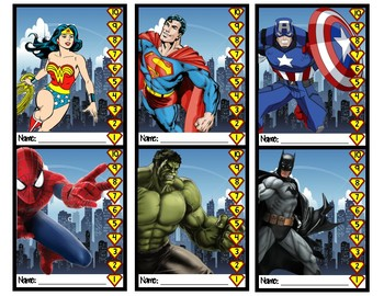 Punch Cards Superhero Theme
