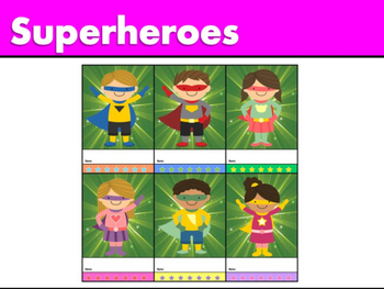Punch and Sticker Cards : Superheroes!!!