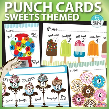 Rewards Punch Cards: Donuts, Cupcakes & Popsicles