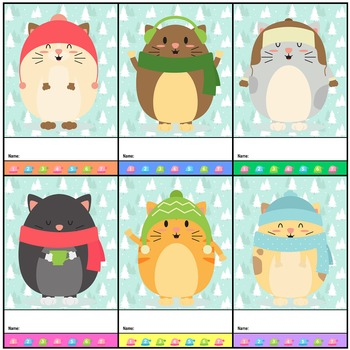 Punch Cards : Winter - Cuddly Cats