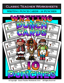 Punch Cards - Writing Punch Cards (Year-Round) - 10 Punches