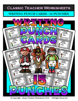 Punch Cards - Writing Punch Cards (Year-Round) - 15 Punches