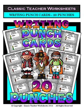 Punch Cards - Writing Punch Cards (Year-Round) - 20 Punches