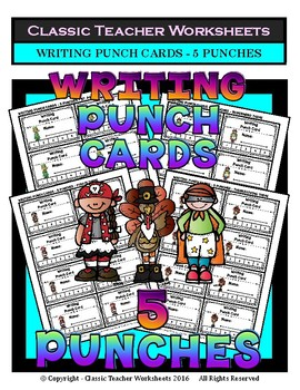 Punch Cards - Writing Punch Cards (Year-Round) - 5 Punches