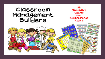 Punch Cards and Incentive Charts Reward Bundle Classroom M