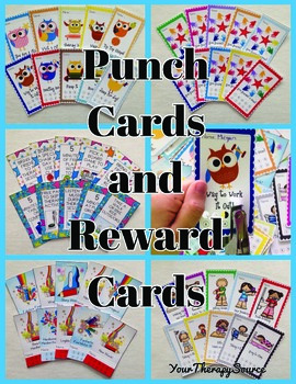 Punch Cards and Reward Cards for Pediatric Therapy