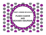 Punch Cards and Reward Coupons for Classroom Management