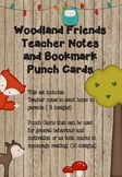 Punch Cards and Teacher Notes - Woodland Friends Theme