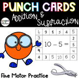 Punch Cards for Addition and Subtraction within 10
