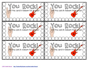 Punch Cards for Back-to-School