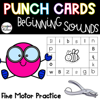 Punch Cards for Beginning Sounds
