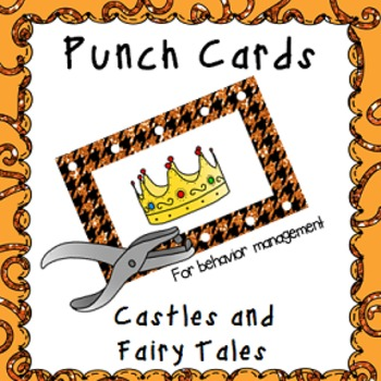 Behavior Management Punch Cards- Castles and Fairy Tales